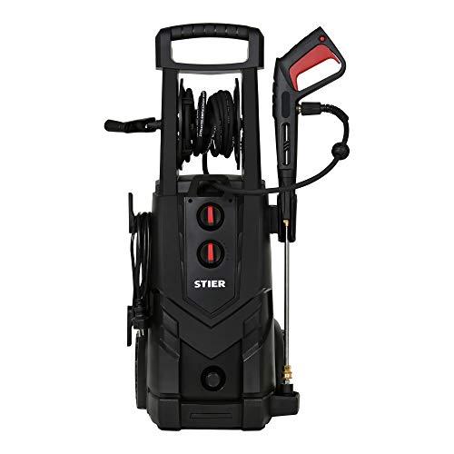 STIER Hochdruckreiniger SDR-300, 3200 W, Max. Druck 225 bar, Fördermenge 450 l/h, 5 Meter Schlauch, 5 Meter Kabel,inklusive Terassenreiniger, für Haus, Auto, Garten - 3