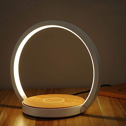 Mr.Dai Nachttischlampe LED klappbar, 10W tragbare drahtlose Lade LED Schreibtischlampe kreative Lernlampe American Standard Plug