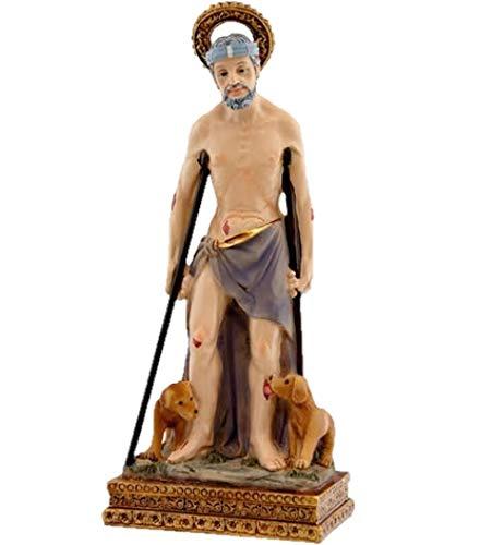 DRW Figura San Lázaro de Resina 11 cm con Caja PVC con la Historia