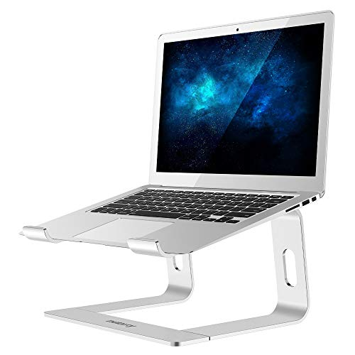 """Nulaxy Laptop Stand, Ergonomic Aluminum Laptop Computer Stand, Detachable Laptop Riser Notebook Holder Stand Compatible with MacBook Air Pro, Dell XPS, HP, Lenovo More 10-15.6"""" Laptops B- Silver …"""