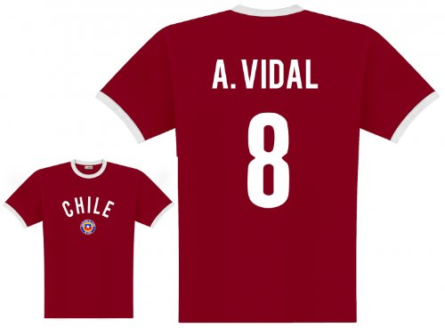World of Football Player Shirt Chile Vidal - M