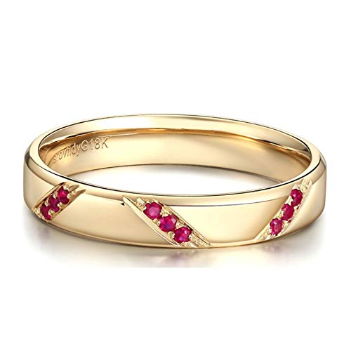 Ubestlove Women Rings Ruby Gifts For Wife Birthday Unique Round Ring Q 1/2 Gifts For Her Love
