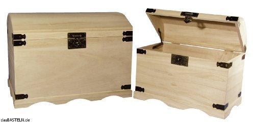 RAYHER 6153900 Holz-Truhen-Set, 37 x 21 x 26 cm und 44,8 x 28,8 x 32 cm