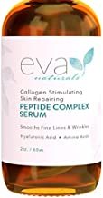 Collagen Peptide Complex Serum by Eva Naturals (2 oz) - Best Anti-Aging Face Serum Reduces Wrinkles - Heals and Repairs Skin while Improving Tone and Texture