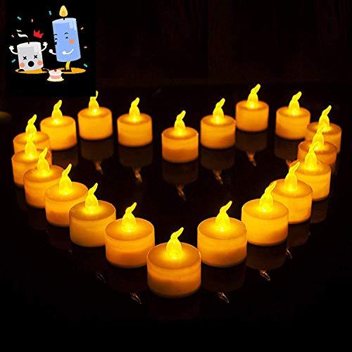Vela LED pequeña,Luces de Té sin Llama,Velas de LED Decorativas con Efecto Llama,falso Vela,para hogar festivales decoración, bodas,Cumpleaños, Navidad,Halloween fiestas(24 PACK)