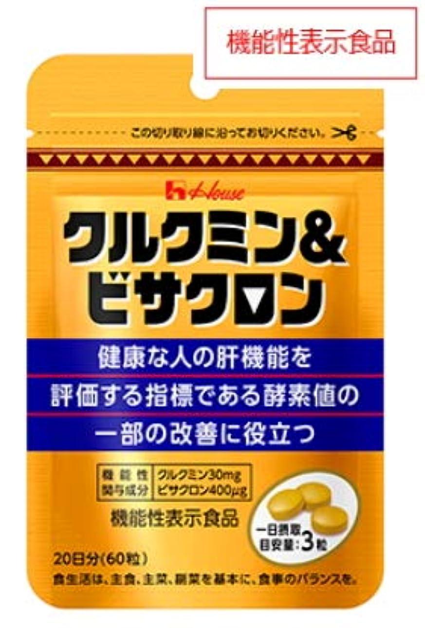 フィクションひねり消えるハウス クルクミン&ビサクロン 60粒(20日分)2個セット【機能性表示食品】