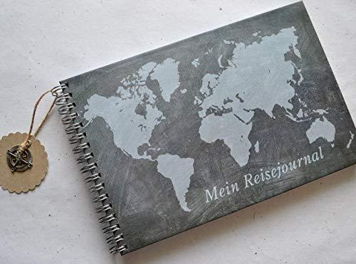 Reisetagebuch DIN A5 Weltkarte Tafellook
