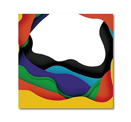 Abstracte achtergrond met gesneden vormen afficheafdruk, zakelijke presentatie flyer sjabloon muurkunst afbeelding decor canvas schilderij 60x60cmx1 / geen lijst