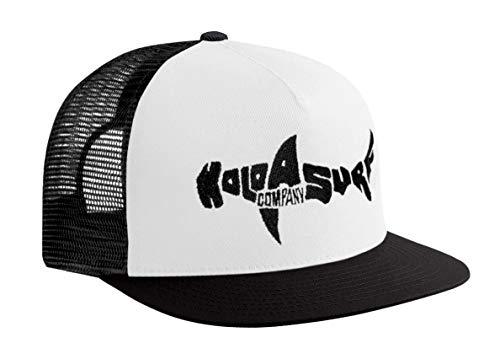 Koloa Shark(tm) Mesh Back Trucker Hat in White with Black Logo