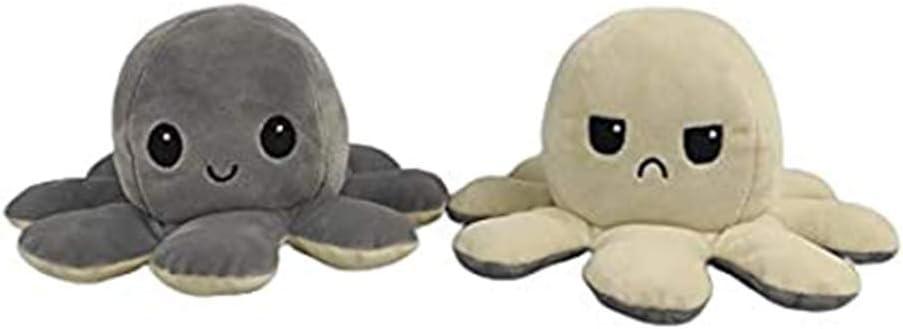 reversibile adatto per ragazzi e ragazze morbido regalo di compleanno e vacanze HFeng a doppia faccia Peluche a forma di polipo con polipo