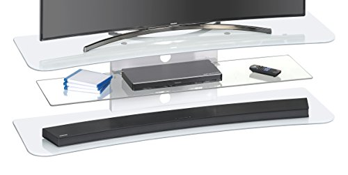 MAJA Möbel 1623 TV-Rack Weißglas, Abmessungen (BxHxT): 140 x 42,60 x 41,70 cm, Glas, 140 x 41,70 x 42,60 cm