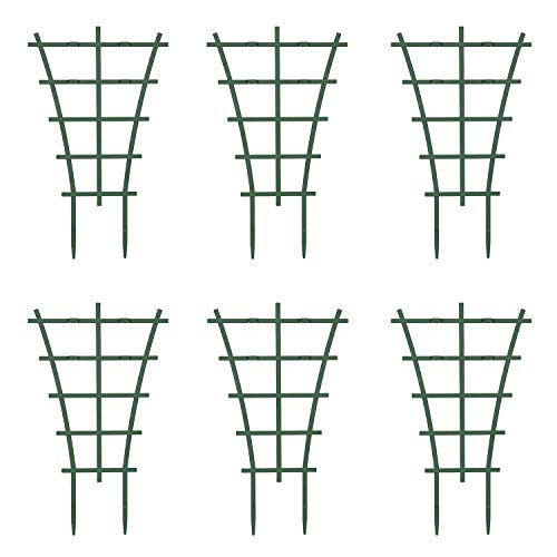 Fittoway Mini Pflanzenstütze DIY Garten Rankhilfe für Kletterpflanzen Überlagert Pflanzenklettergitter Kunststoff-Pflanzen-Spalier und Reben Topfpflanzenstütze Pflanzenunterstützung (6 Stück)