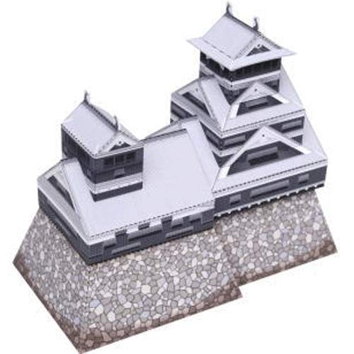 ELVVT Japan Kumamoto Castle Architectuur 3D-bouwplaat Toy Ouder-kind DIY Manual Kindergarten Children's Origami Craft puzzel Gift