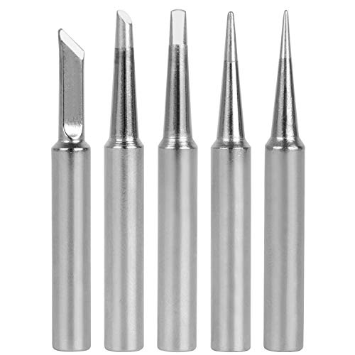 GeToo ST Series Soldering Tip for Weller WLC100, WP25, WP30, SP40L,SP40N and WP35 Irons Tips, Set of 5 Shapes