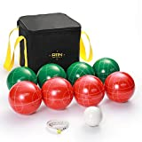 A11N 107mm Regulation Bocce Ball Set with 8 Resin Balls in 2...