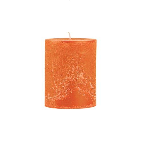 Rustico durchgefärbte, strukturierte Stumpenkerze 150/100mm orange | Brenndauer: ca. 120 Std | Original von Steinhart