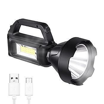 Lampe torche avec éclairage latéral, charge solaire, étanche IPX4, convient aux éclairages de secours familiaux, éclairages de camping en plein air, éclairage de travail