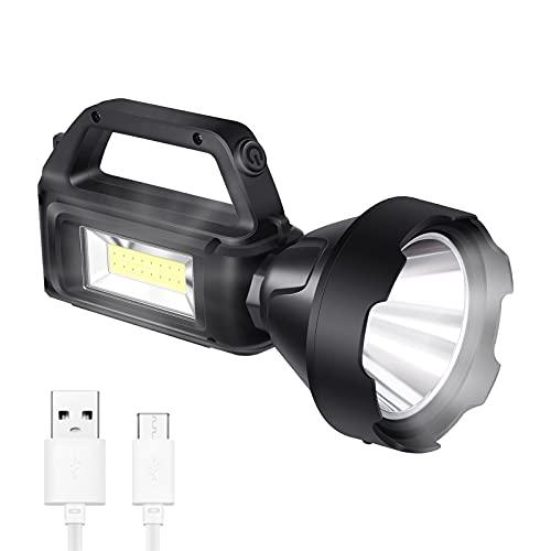 Torcia led ricaricabile con luci di posizione, ricarica solare, impermeabile IPX4, adatta per luci di emergenza domestiche, luci da campeggio da esterno, luci da lavoro