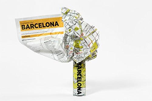 Crumpled City Map Barcelona