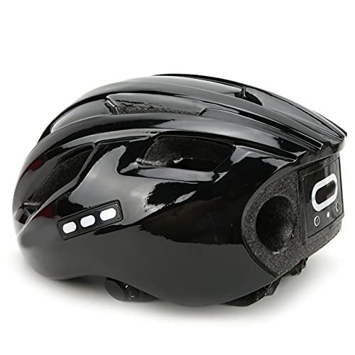 SHYEKYO Casco de Bicicleta, diseño de Agujero de Casco de Bicicleta para Bicicleta(Negro Completo, Tipo de Torre Inclinada de Pisa)