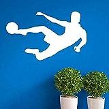 Pegatinas de pared autoadhesivas con diseño de balón de fútbol, 35 x 58 cm