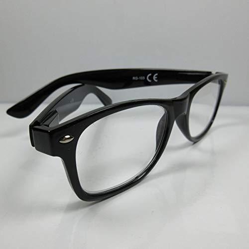 Kost leesbril voor heren +2,5 leeshulp zwart flexibele beugel kant-en-klaar bril kijkhulp