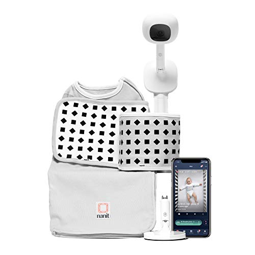 Nanit Plus Complete Baby Monitoring System Bundle Pack, Camera & Wall Mount + Breathing Motion