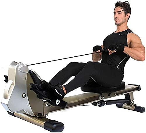 CDPC Máquina de Remo Plegable para el hogar, Equipo de Fitness aeróbico, Resistencia Ajustable, Ejercicio de Remo, Deportes, Abdominales