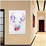 Arte impreso en HD, acuarela, cerdo rosa, impresiones en lienzo, pintura, imágenes de pared Pop Giclee para carteles e impresiones de habitación de niños