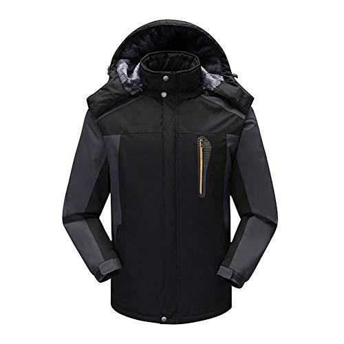 Combinaison de ski pour homme, grande taille, imperméable à l'eau, chaude et résistante aux UV, noir, XL