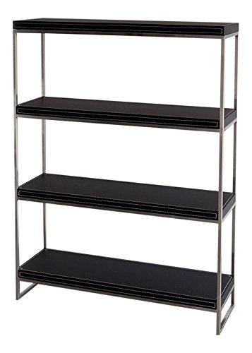 Forli Jet-Line Bureaumeubel design archiefkast kantooruitrusting in zwart met roestvrij stalen frame