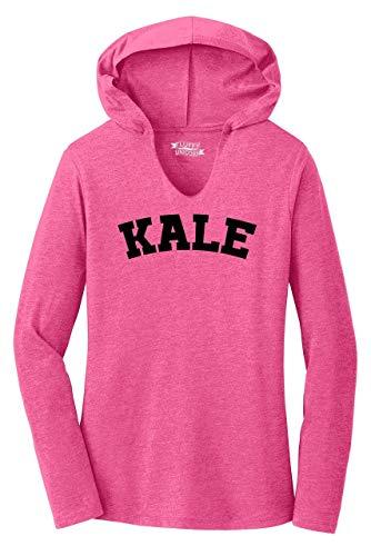 Ladies Hoodie Shirt Kale Fuchsia Frost XL