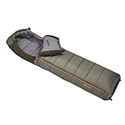 Slumberjack Borderland 0 Dual Zipper Hooded Rectangular Sleeping Bag