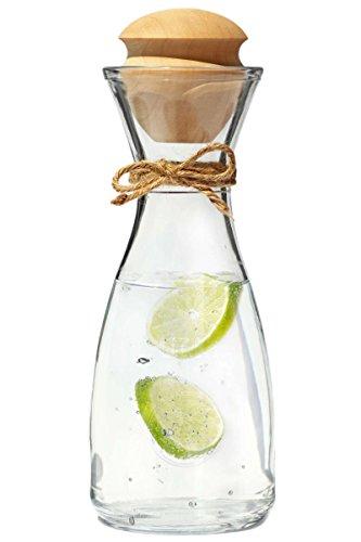 Dekobox Original Zillertaler Wasserkaraffe 1L Rocco inkl. Zirben Zapfen - Zirbenwasser mit wohltuenden Eigenschaften