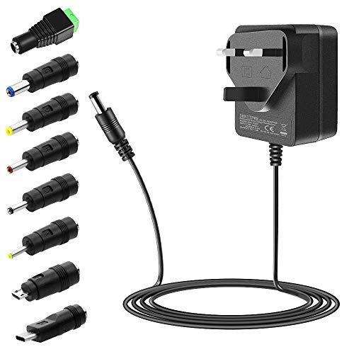 SHNITPWR 5V Power Supply 3A 15W Universal Power Adapter 240V AC to DC 5V 3A 2.5A 2A 1.5A Converter Transformer With 8 Tip 5.5x2.5mm 5.5x2.1mm 4.0x1.7mm 3.5x1.35mm 3.0x1.1mm 2.5x0.7mm Micro-USB Type-C