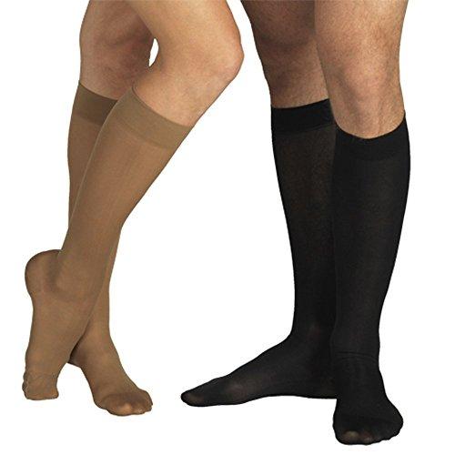 23-32 mmHg KOMPRESSIONS KNIESTRÜMPFE Stütz Socken AD, Medizinische Klasse KKL II, CCL 2 Strümpfe mit Fußspitze (XL (170-182 cm), Schwarz)