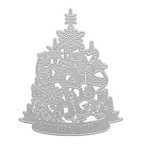 Cutting Dies Stencil Metal Template Moulds, Embossing Tool for Album Paper Card Making Scrapbooking DIY Etched Dies Craft (Christmas-Tree)