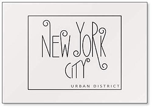 Aimant de réfrigérateur Calligraphie moderne avec phrase New York City