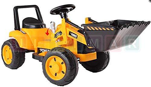 BSD Véhicule électrique pour Enfants Voiture électrique - Tracteur, Bulldozer - Jaune