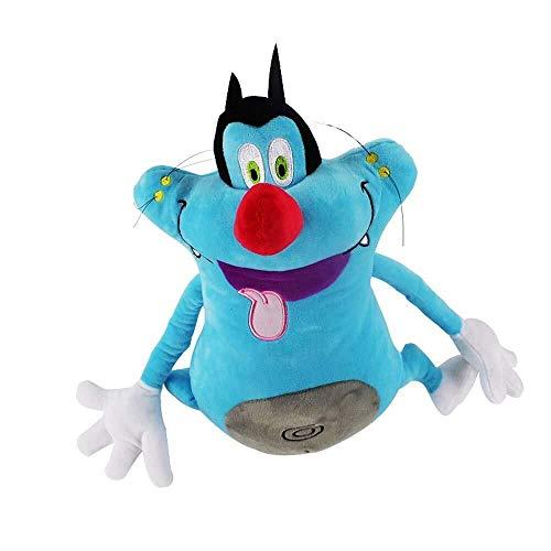 Detazhi 35cm Französisch Cartoon Oggy und die Kakerlaken-Plüsch-Spielzeug Fat Cat Oggy Stofftier Puppe