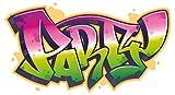 dekodino Wandtattoo Graffiti Party Schriftzug Wandsticker Dekoration
