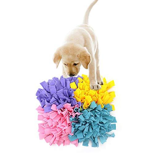 YUSHEN8 Snuffle Mat voor Honden L Hand Geweven Sniffing Pad Om Neus Werk Geur Voeden Foraging Skill Trainning L Hond Spelen Mat Puzzel Speelgoed, Four Petal C
