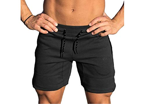 Herren Sport Kurz Hose, Morbuy Laufshorts Fitness Kurzehose Jogging Training Loose Sporthose Männer Shorts Trainingshose für Outdoor Sport Workout (2XL,Schwarz)