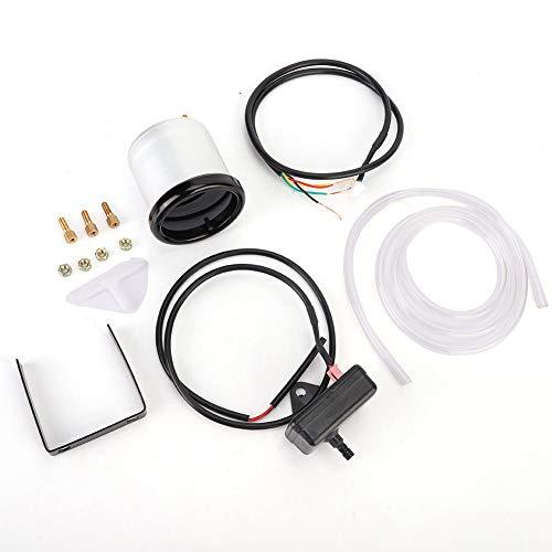 Suuonee Turbo Boost Gauge, 2in 52mm Presión de PSI del coche Turbo Boost Gauge Kit de medidor de vacío de barra de puntero de pantalla colorida