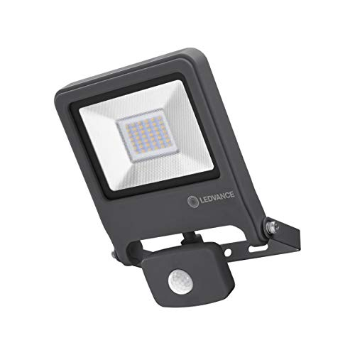 LEDVANCE LED Fluter, Leuchte für Außenanwendungen, Kaltweiß, Integrierter Tageslicht- und Bewegungssensor, Endura Flood Sensor