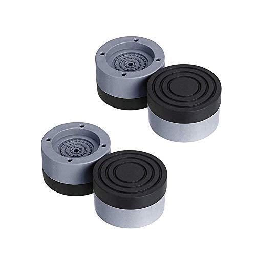 Voarge 4 Stück Vibrationsdämpfer, Universal Schwingungsdämpfer, Waschmaschine Antivibrationsmatte, für Waschmaschinen Trockner Möbel Kühlschrank(Grey, 4cm)