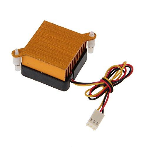 Kcnsieou Ventilador de aluminio del disipador de calor del refrigerador del chipset de la PC Northbridge 40m m para la refrigeración de la impresora 3