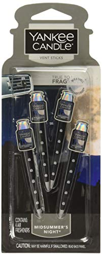 Yankee Candle Ambientador para coche con barra de ventilación para mediados de verano, 2 paquetes (8 barras de ventilación)