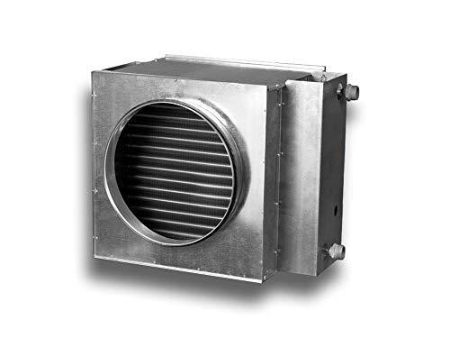 Warmwasser Heizregister Wasser Lufterhitzer für Rundrohrsysteme System Ø 200, Ausführung 4 reihiges Wasserheizregister