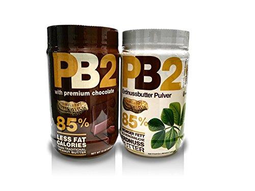 Bell Plantation PB2 Peanut Butter (Powdered) Mix Pack (Original & Chocolate) 2x453,6g
